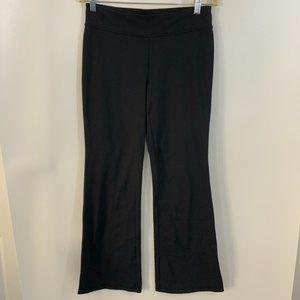 Talbots Black Wide Leg Yoga Pants M High Rise